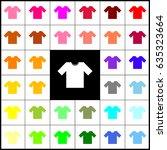t shirt sign illustration.... | Shutterstock .eps vector #635323664