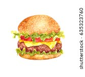 watercolor illustration of... | Shutterstock . vector #635323760