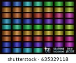 set of 60 colored gradients ... | Shutterstock .eps vector #635329118