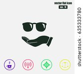 sunglasses  on the hand icon ... | Shutterstock .eps vector #635333780