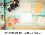 top view composition   blank...   Shutterstock . vector #635337680