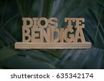 Wooden Sign   In Spanish...