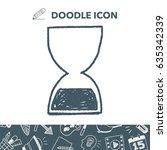 hourglass doodle | Shutterstock .eps vector #635342339