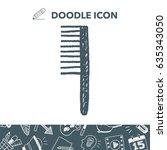 comb doodle | Shutterstock .eps vector #635343050