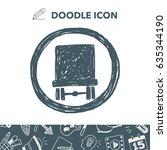 traffic sign doodle | Shutterstock .eps vector #635344190