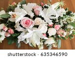 flower arrangement  center... | Shutterstock . vector #635346590