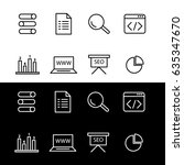 editable set of seo icons.... | Shutterstock .eps vector #635347670