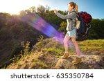 profile portrait of happy... | Shutterstock . vector #635350784