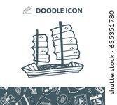 boat doodle | Shutterstock .eps vector #635351780