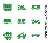 train icons set. set of 9 train ...   Shutterstock .eps vector #635356706
