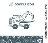 truck doodle | Shutterstock .eps vector #635358590