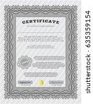 grey classic certificate... | Shutterstock .eps vector #635359154