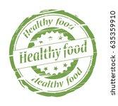 healthy food grunge stamp  ... | Shutterstock .eps vector #635359910