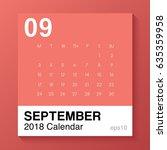 september   simple template for ... | Shutterstock .eps vector #635359958