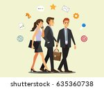 businessman  manager  business... | Shutterstock .eps vector #635360738