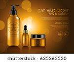 make up and skincare packaging... | Shutterstock .eps vector #635362520