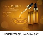 make up and skincare packaging... | Shutterstock .eps vector #635362559