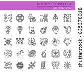 biology technology elements  ... | Shutterstock .eps vector #635378018