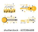 music logo. music festival ... | Shutterstock .eps vector #635386688