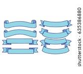 set of hand drawn ribbon | Shutterstock .eps vector #635386880