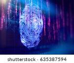 finger print scanning... | Shutterstock . vector #635387594
