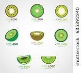 kiwi logo design template....   Shutterstock .eps vector #635392340
