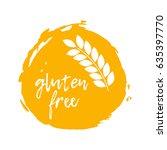 gluten free label. food...   Shutterstock .eps vector #635397770