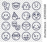 smile icons set. set of 16... | Shutterstock .eps vector #635400368