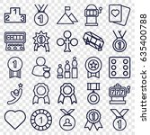 win icons set. set of 25 win... | Shutterstock .eps vector #635400788