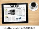 online news on tablet showing ... | Shutterstock . vector #635401370