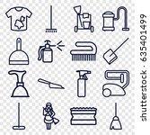 cleaner icons set. set of 16... | Shutterstock .eps vector #635401499
