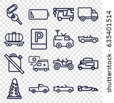 car icons set. set of 16 car... | Shutterstock .eps vector #635401514