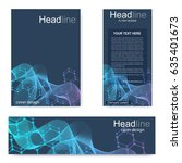 set flyer  brochure size a4... | Shutterstock .eps vector #635401673