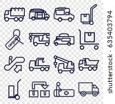 moving icons set. set of 16... | Shutterstock .eps vector #635403794