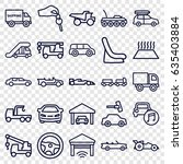 automobile icons set. set of 25 ... | Shutterstock .eps vector #635403884