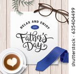flat lay style father s day... | Shutterstock .eps vector #635404499