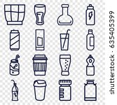 soda icons set. set of 16 soda... | Shutterstock .eps vector #635405399