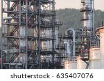 oil refinery plant. power and... | Shutterstock . vector #635407076