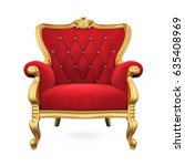 throne chair isolated. 3d... | Shutterstock . vector #635408969