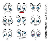 comic style faces emotions... | Shutterstock .eps vector #635410814