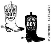 Cowboy Party. Hand Drawn Cowbo...