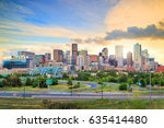 panorama of denver skyline long