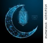 abstract image of a arabic moon ... | Shutterstock .eps vector #635419214
