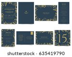 wedding invitation card formal... | Shutterstock .eps vector #635419790