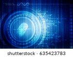 fingerprint scanning technology ... | Shutterstock . vector #635423783
