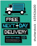 free next day delivery poster... | Shutterstock .eps vector #635426600