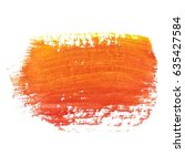 abstract watercolor brush... | Shutterstock .eps vector #635427584