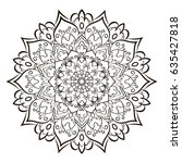 mandala. ethnic decorative... | Shutterstock .eps vector #635427818