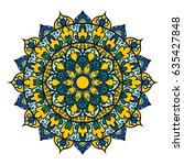 mandala. ethnic decorative... | Shutterstock .eps vector #635427848