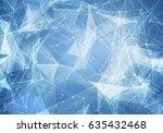 abstract polygonal light blue... | Shutterstock . vector #635432468